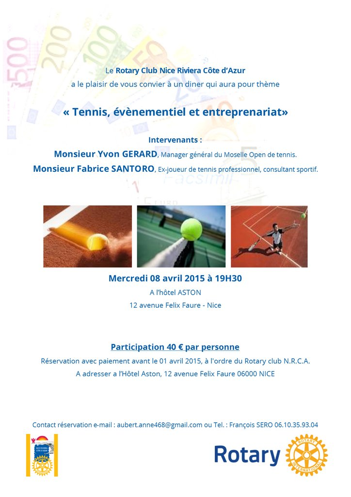 Tennis evenementiel et entreprenariat